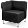 Right End Chair - Shown in Black Whisper Vinyl