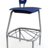 "30""H Stool with Wire Bookrack"